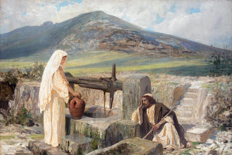 VASILI DMITRIEVICH POLENOV, 1844-1927 THE SAMARITAN WOMAN