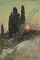 IVAN TRUSZ, 1869-1941 SUNSET IN THE SOUTH, Iwan Trusz, Click for value