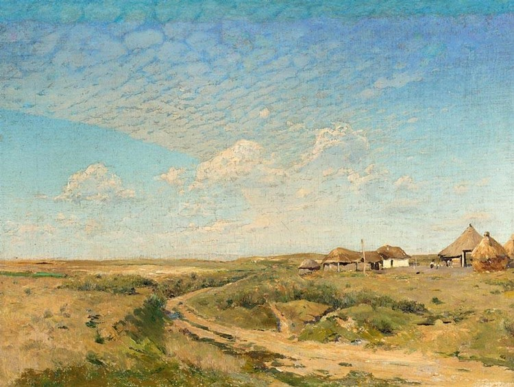 PROPERTY OF A PRIVATE GERMAN COLLECTOR SERGEI IVANOVICH VASILKOVSKY, 1854-1917 A SMALL VILLAGE IN