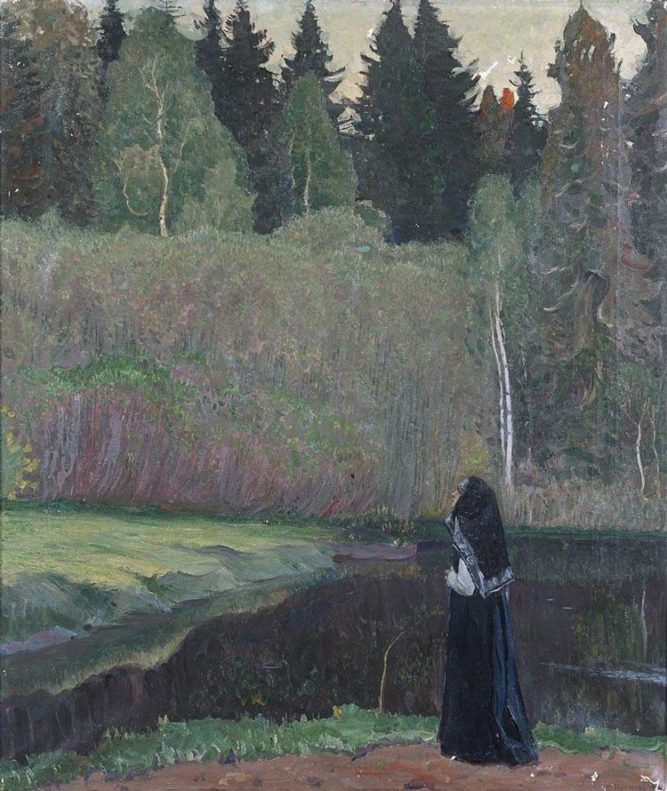 PROPERTY OF A PRIVATE SCANDINAVIAN COLLECTOR MIKHAIL VASILIEVICH NESTEROV, 1862-1942 BY THE LAKE