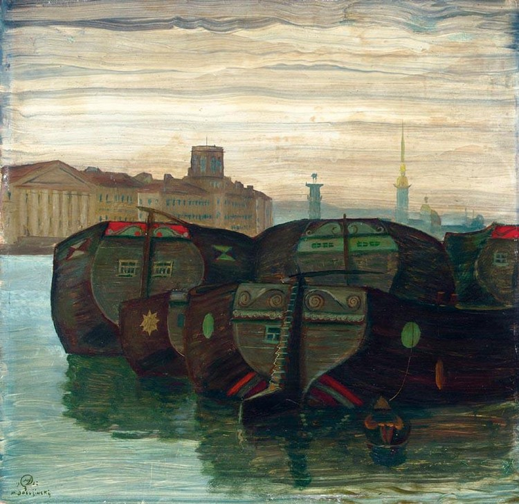 PROPERTY OF A PRIVATE GERMAN COLLECTOR MSTISLAV VALERIANOVICH DOBUZHINSKY, 1875-1957 BOATS ON THE