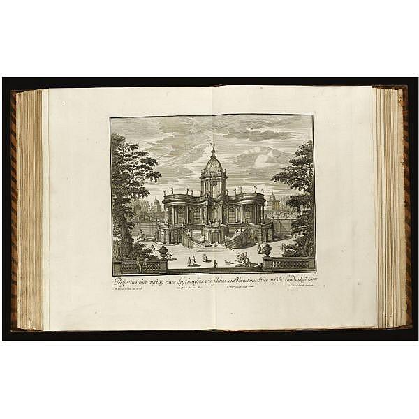 Decker, Paul (1677-1713) . , Fürstlicher Baumeister, oder architectura civilis... Erster Theil (Anhang... Anderer Theil). Augsburg, 1711-1716