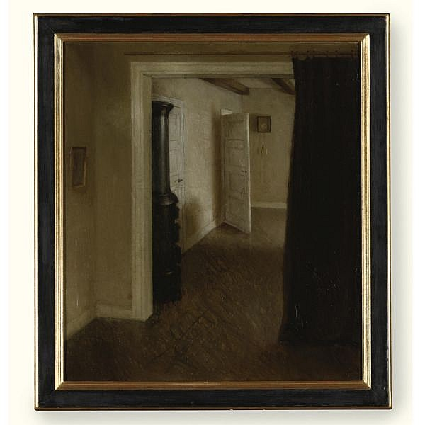 Hans Eriksen , 1912-1982 Interior oil on canvas