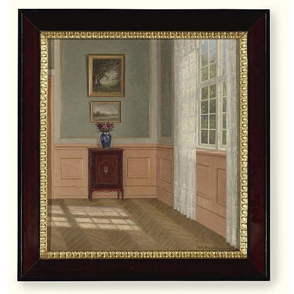 William Henriksen , 1880-1964 Morning Room oil on canvas