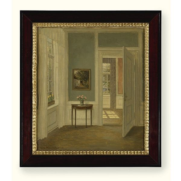 William Henriksen , 1880-1964 Sunshine in the Sitting Room oil on canvas