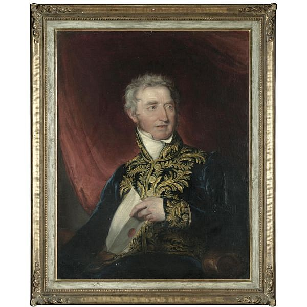 Sir William Beechey R.A. , 1753-1839 Portrait of Sir William Hamilton (1730-1803) oil on canvas, held in a gilded frame