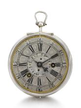 THOMAS TOMPION, LONDON | AN EXCEPTIONALLY RARE SILVER VERGE ALARM WATCH<br />CIRCA 1698, NO. 95