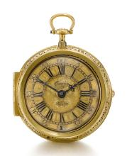 THOMAS TOMPION, LONDON | AN IMPORTANT GOLD PAIR CASED QUARTER REPEATING VERGE WATCH<br /> 1708-1709, NO. 307