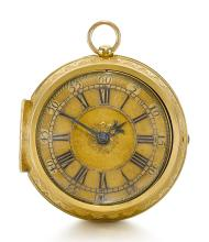 HENRY JONES, LONDON | A FINE GOLD VERGE WATCH WITH CONTEMPORARY REPLACEMENT OUTER CASE<br /> INNER CASE 1690 OUTER CASE 1699