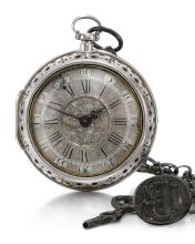 DANIEL QUARE, LONDON | A RARE SILVER PAIR CASED EARLY QUARTER REPEATING VERGE WATCH<br />CIRCA 1705, NO. 237