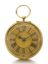 DANIEL QUARE, LONDON | A VERY RARE GOLD TWO-TRAIN CLOCK WATCH<br />1687, NO. 533