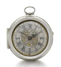 FROMANTEEL & CLARKE | A FINE SILVER PAIR CASED VERGE WATCH<br />CIRCA 1710