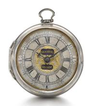 JOHN BROCKHURST, LONDON | A FINE SILVER SINGLE CASED VERGE WATCH<br />CIRCA 1710