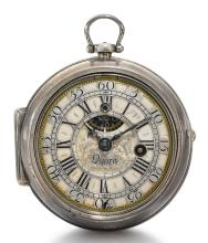 DANIEL QUARE, LONDON | A FINE SILVER PAIR CASED VERGE WATCH<br /> CIRCA 1710, NO. 3762