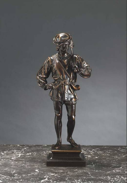 GUILLOT, 1865-1911, A PAIR OF BRONZE SCULPTURES 'BEFORE THE HUNT I & II', FRENCH SCHOOL CIRCA 1900