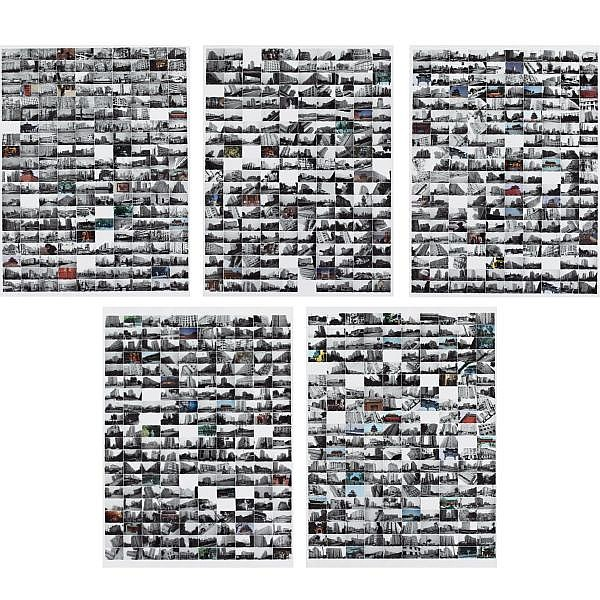 Wang Jinsong , B. 1963 City Wall Beijing (five parts) chromogenic prints