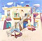 LEON FRANCESCO MORROCCO B.1942 SUNLIGHT ON FISHERMEN'S HOUSES, PROCIDA, BAY OF NAPLES 86 by 91 cm., 33.75 by 36 in. signed and dated l.l.: Leon Morrocco '96 oil on canvas, Leon  Morrocco, Click for value