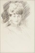PAUL CÉSAR HELLEU, FRENCH (1859 - 1927) | Portrait of Mme Helleu
