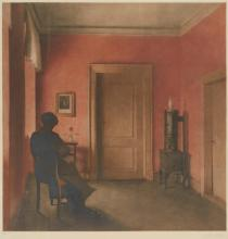 PEDER ILSTED, DANISH (1861-1933) | The Red Room