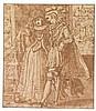 ATTRIBUTED TO ADAM VAN NOORT | An elegant couple in an interior, admiring a painting, Adam van Noort, Click for value