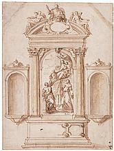 ANTONIO VASSILACCHI, CALLED L'ALIENSE | Design for an altar