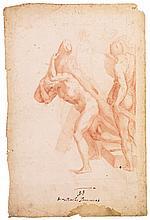 NICCOLÒ CIRCIGNANI, CALLED IL POMARANCIO | Study of a group of figures, two carryingcrosses