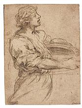 PIETRO BERRETTINI, CALLED PIETRO DA CORTONA | A young man holding a dish seen in profile