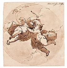 UBALDO GANDOLFI | Two putti in flight