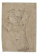 GIOVANNI DOMENICO TIEPOLO | A study of a hovering putto