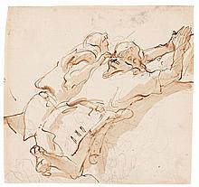 GIOVANNI BATTISTA TIEPOLO | Two kneeling figures, praying