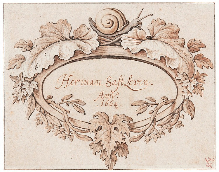 HERMAN SAFTLEVEN | Cartouche design, with a snail