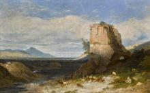 WILLIAM LINTON | The Temple ofFemale Fortune with the Acqua Felice