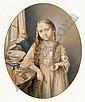 ALEXANDER PAVLOVICH BRULLOFF, 1798-1877 YOUNG GIRL BRUSHING HER HER, Aleksandr Bryullov, Click for value