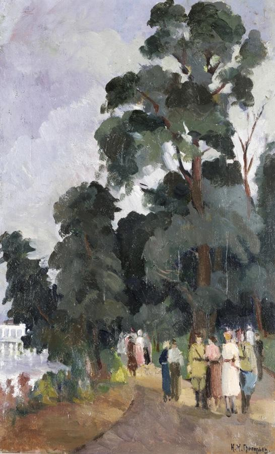 NIKOLAI MIKHAILOVICH GRIGORIEV, 1890-1943 BY THE POND