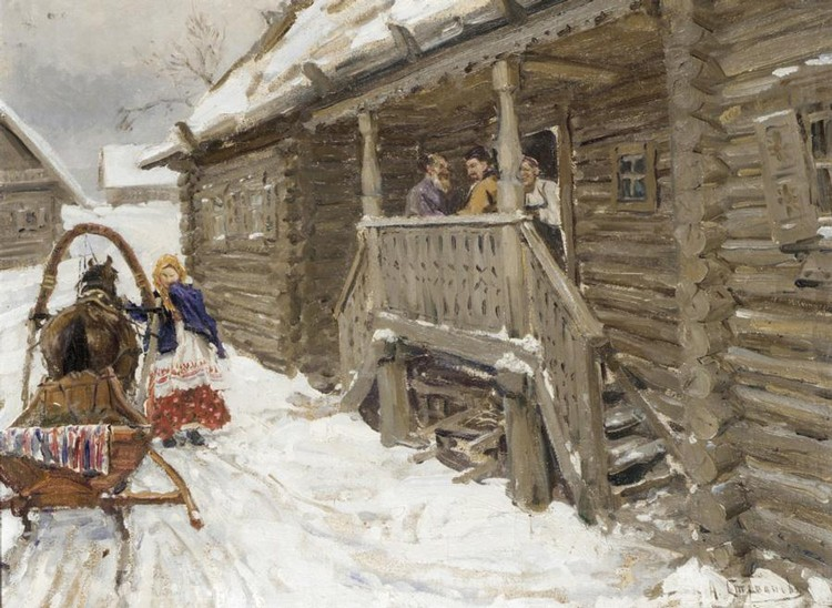 ALEXEI STEPANOVICH STEPANOV, 1858 - 1923 VISITORS TO THE DACHA