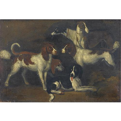 Adriaen Beeldemaker Rotterdam circa 1618 - 1709 The Hague , Study of Dogs