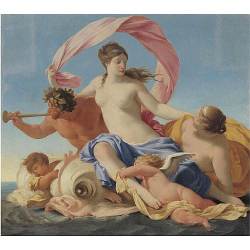 Eustache Le Sueur Paris 1616 - 1655 , The Triumph of Galatea