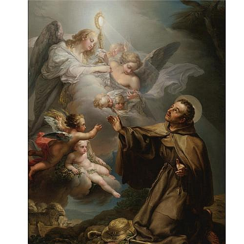 Vicente Lopez y Portaña Valencia 1772 - 1850 Madrid , The Apparition of the Eucharist to San Pascual Bailon