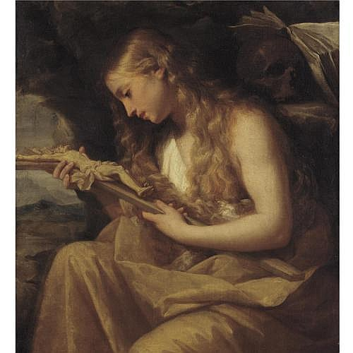 Giovanni Gioseffo dal Sole Bologna 1654 - 1719 , The Penitent Magdalene