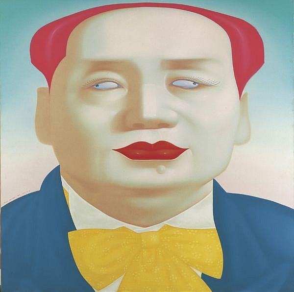 Feng Zhengjie B. 1968 , Mao No.10 oil on canvas