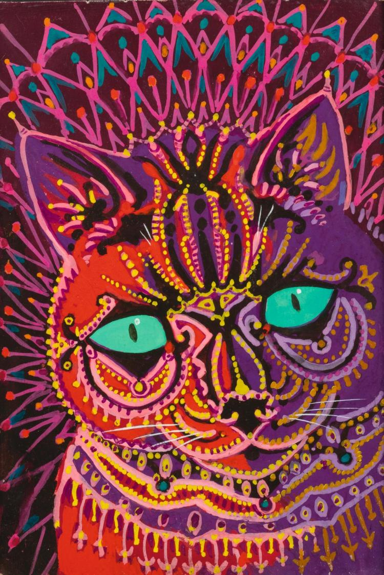 mental illness and art Louis Wain Louis Wain, Kaleidoscope cat,