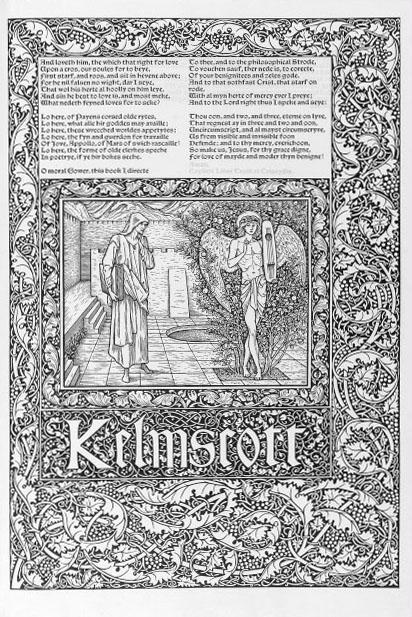 N/A Geoffrey Chaucer. The Works ? Newly Imprinted. (Edited by F. S. Ellis). Hammersmith, 1896 Foli...