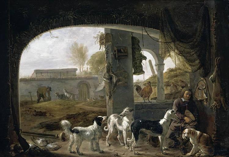 f - CORNELIS SAFTLEVEN GORINCHEM 1607 - 1681 ROTTERDAM