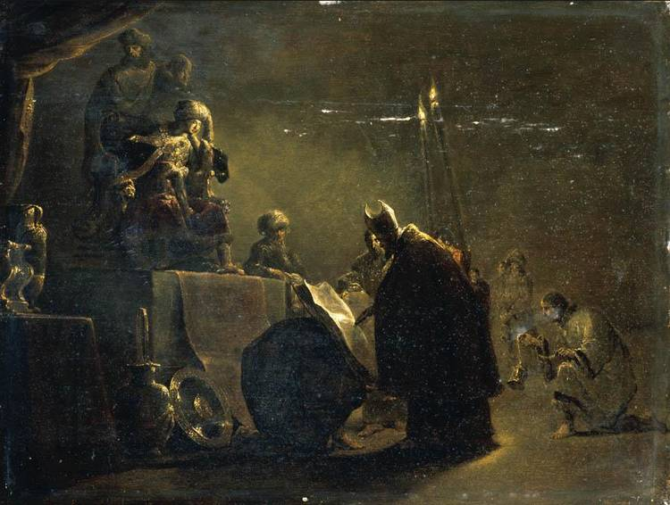 f - LEONAERT BRAMER DELFT 1596 - 1674