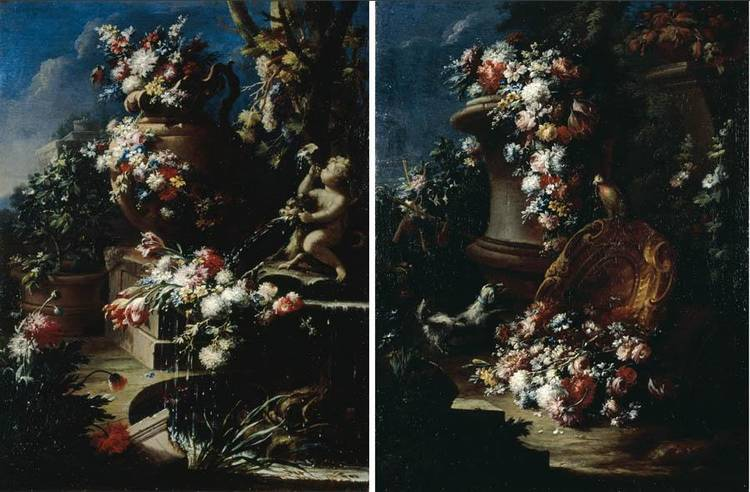 f - GASPARE LOPEZ, CALLED GASPARO DEI FIORI ACTIVE IN NAPLES; DIED CIRCA 1732 IN FLORENCE OR VENICE