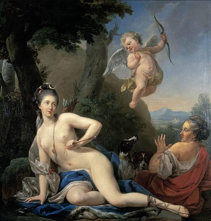 f - LOUIS-MICHEL VAN LOO TOULON 1707 - 1771 PARIS