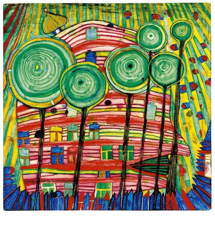 Friedensreich Hundertwasser Works on Sale at Auction & Biography