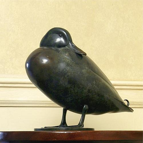 Geoffrey Dashwood , Great crested grebe and mallard: two bronzes