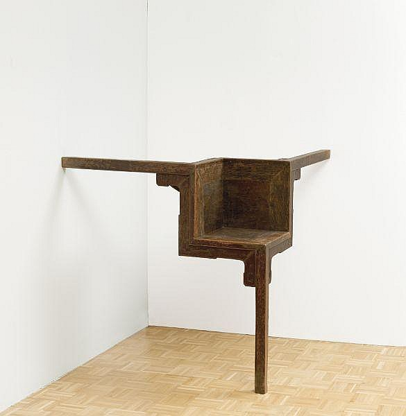 Ai Weiwei , b. 1957 Table with Three Legs Qing dynasty wood