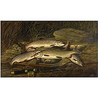 Thomas G. Targett , 1829 - 1929 The Day's Catch oil on canvas